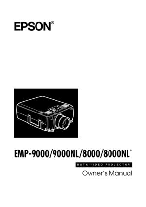 Epson Projector Emp 8000nl User Manual