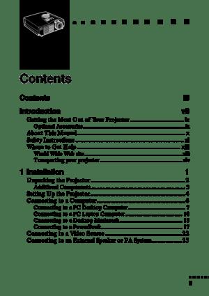 Epson Projector Emp 700 User Manual