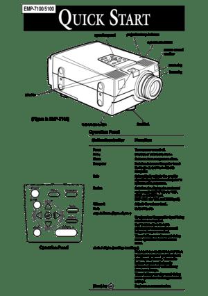 Epson Projector Emp 7100 User Manual