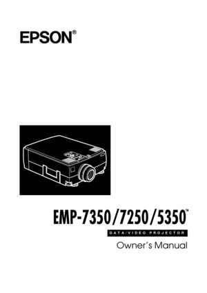 Epson Projector Emp 7250 User Manual
