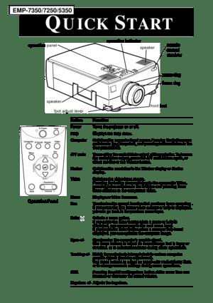Epson Projector Emp 5350 User Manual