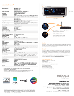 InFocus Projector Learn Big In2102ep Specifications