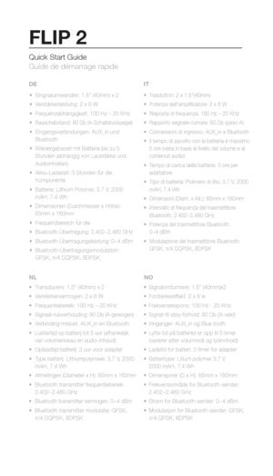 JBL Flip 2 Manual