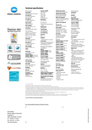 Konica Minolta magicolor 1690MF dt User Manual
