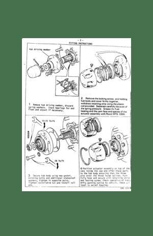 Land Rover Hubs Free Wheeling Roversclub Manual