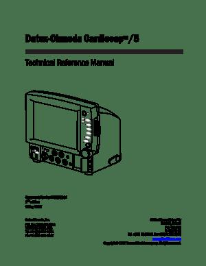 GE Cardiocap 5 Service Manual