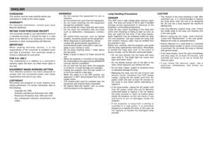 Marantz Vp 12s4mbl DLP Projector User Manual