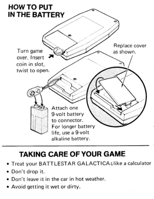 Mattel Battlestar Galactica Manual Instructions