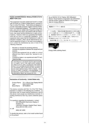 Mitsubishi Electric Diamond Plus 220 Users Manual