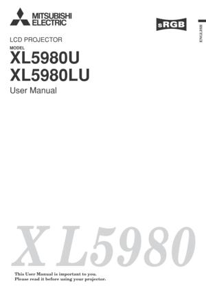 Mitsubishi Xl5980u Lcd Projector User Manual