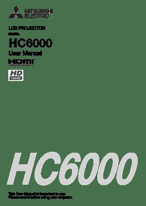 Mitsubishi Hc6000bl Projector User Manual