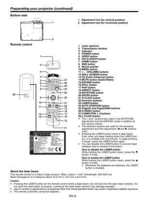 Mitsubishi Hl650u Projector User Manual