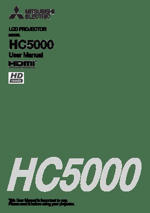 Mitsubishi Hc5000 Projector User Manual