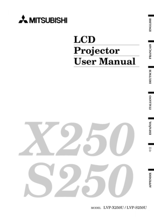 Mitsubishi X250u Projector User Manual