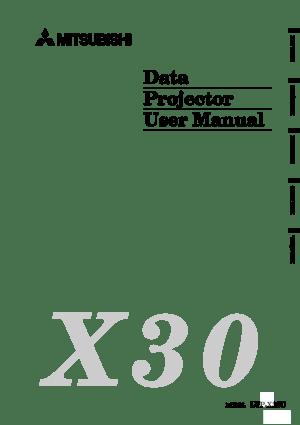 Mitsubishi X30 Projector User Manual