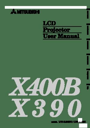 Mitsubishi X390u Projector User Manual