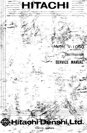 Hitachi V-1050f Service Manual