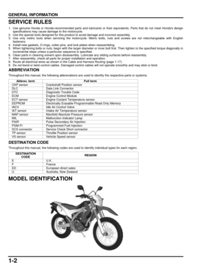 Honda Crf250l Service Manual