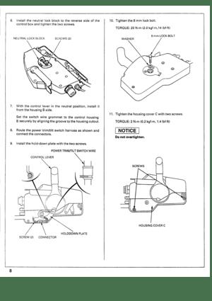 honda marine outboard remote control pre delivery and