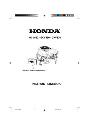 Honda Engines GCV520, GCV530, GXV530 Instructions Manual