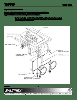 Altinex TILT N PLUG US POWER 2 RETRACT VGAHDMI AUDIO RJ45