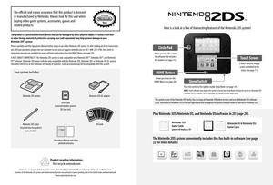 Nintendo 2ds Operations Manual