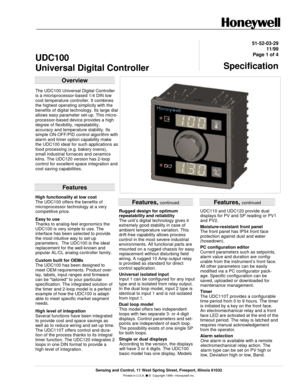 Honeywell Udc 100 L Manual