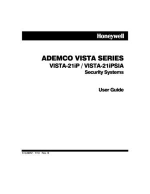 Honeywell control panel VISTA21iP Security System User Manual