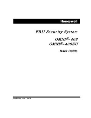 Honeywell control panel OMNI 408408EU User Manual