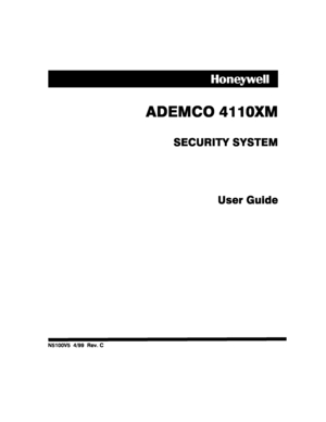 Honeywell control panel 4110XM User Manual