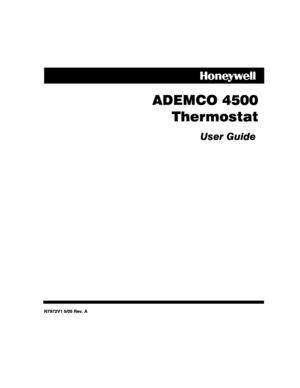 Honeywell thermostat 4500 User Manual