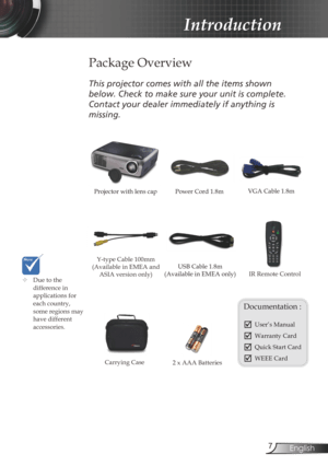Optoma Ds309 Projector User Manual