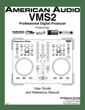 American Audio Digital Producer VMS2 User Manual