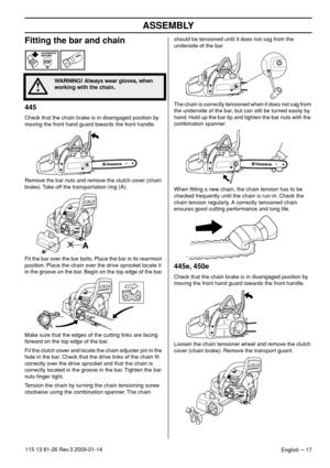 Husqvarna 450 X Torq Owners Manual