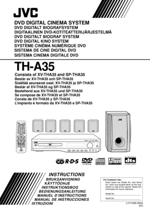 JVC Th A35 Danish Version Manual