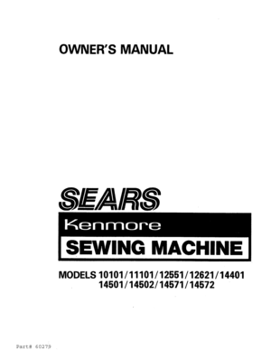 Kenmore 8 Stitch Sewing Machine Manual