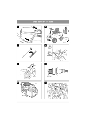 Sabo Lawn Mower 92-14 HF, 107-16 HF Instructions Manual