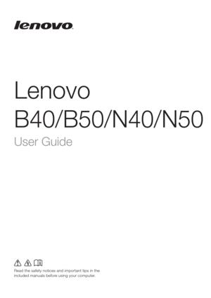 Lenovo B50 30 Laptop User Guide