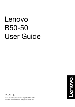 Lenovo B50 50 Laptop User Guide