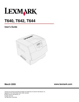 Lexmark T640 User Manual