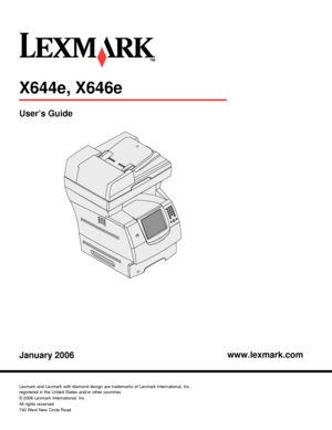 Lexmark X646e User Manual
