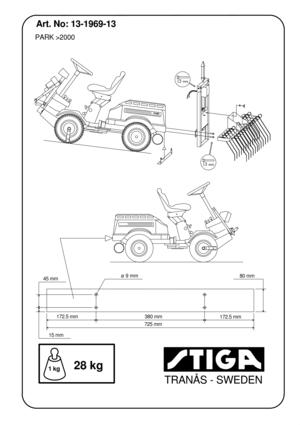 Stiga RAKE WITH REAR EL. LIFT 13-1969-13 French Version Manual