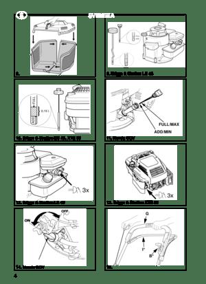 Stiga Lawn Mower 8211-0208-09 Danish Version Manual