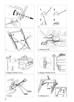 Stiga MULTICLIP 46 S 46 SE 46 S EURO Polish Version Manual