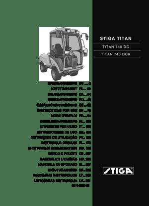 Stiga TITAN TITAN 740 DC TITAN 740 DCR Instructions Manual