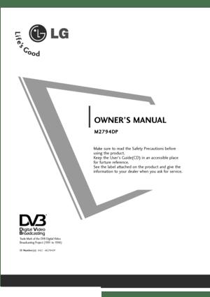 LG Flatron M2794dp Pz Owners Manual