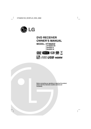 LG Ht 462dz Owners Manual