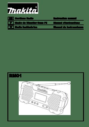 Makita 12V108V LiIon Radio User Manual