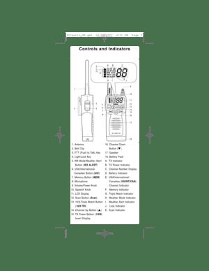 Uniden Receiver Atlantis Operating Instructions