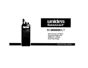 Uniden Bc 3000 Xlt Scanner Owners Manual